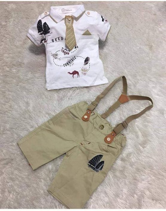 2 pc Suspender Outfit