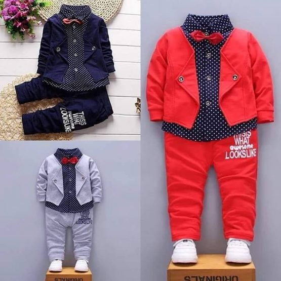 Boy Outfit with Bow Tie