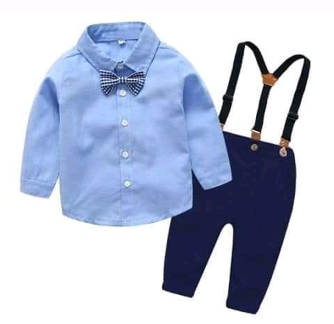 Boy Suit With Suspender