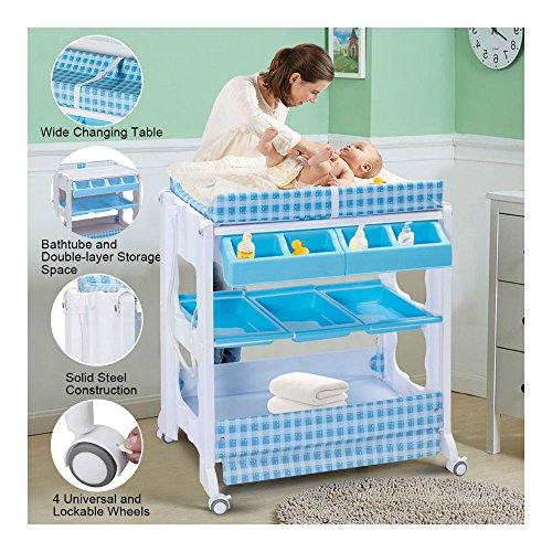 Infant Bath Station Changing Table Organizer